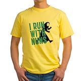 Funny nuns Mens Classic Yellow T-Shirts