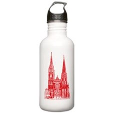Red Cathedral Graphic Water Bottle