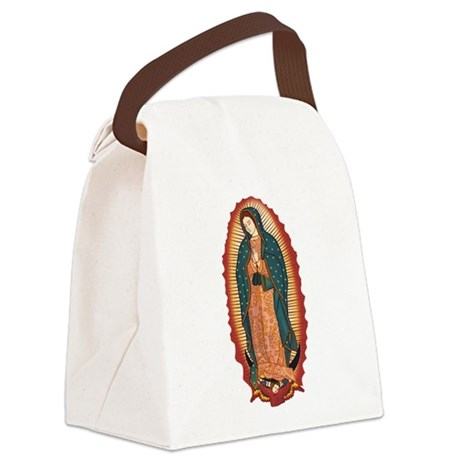 Virgin Of Guadalupe Canvas Lunch Bag