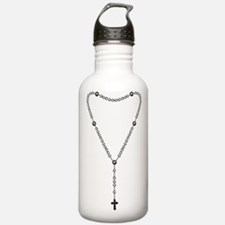 Rosary Graphic Water Bottle