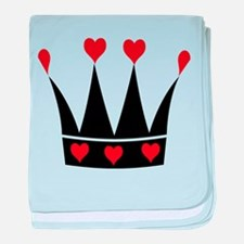 Crown With Hearts baby blanket