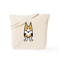 Tri-colored Corgi Reb Design Tote Bag