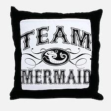 Team Mermaid Throw Pillow
