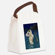 Mermaid In the Water Canvas Lunch Bag