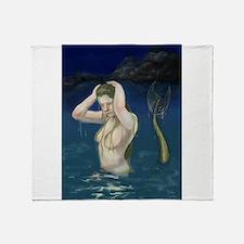 Mermaid In the Water Throw Blanket