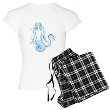 Blue Mermaid Drawing Pajamas