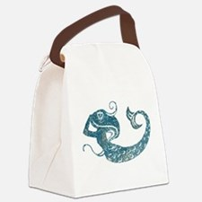 Worn Mermaid Graphic Canvas Lunch Bag