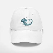 Worn Mermaid Graphic Baseball Baseball Cap