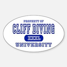 Cliff Diving University Oval Decal