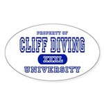 Cliff Diving University Oval Sticker
