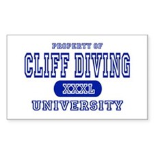 Cliff Diving University Rectangle Decal