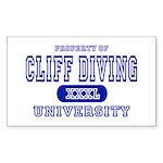 Cliff Diving University Rectangle Sticker