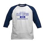 Cliff Diving University Kids Baseball Jersey