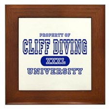 Cliff Diving University Framed Tile