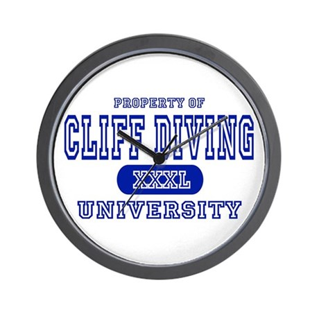 Cliff Diving University Wall Clock