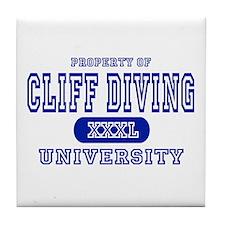Cliff Diving University Tile Coaster