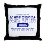 Cliff Diving University Throw Pillow