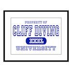 Cliff Diving University Large Framed Print