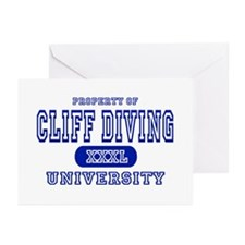 Cliff Diving University Greeting Cards (Package of