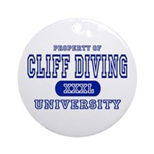 Cliff Diving University Ornament (Round)