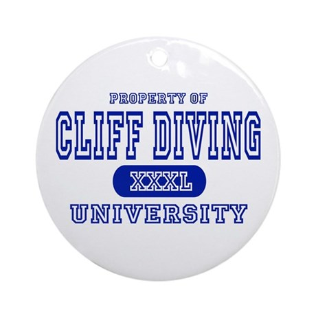 Cliff Diving University Ornament (Round)