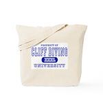 Cliff Diving University Tote Bag