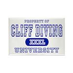 Cliff Diving University Rectangle Magnet