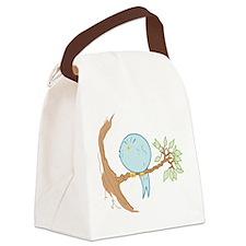 Miffed Bluebird Canvas Lunch Bag