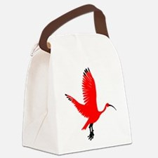 Scarlet Ibis Canvas Lunch Bag