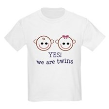 Yes! We are Twins Kids T-Shirt