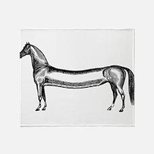 Elongated Equine Throw Blanket
