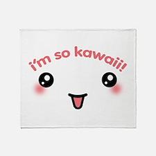 I'm So Kawaii Throw Blanket