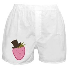 Strawberry In A Top Hat Boxer Shorts