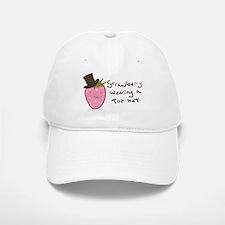 Strawberry Wearing A Top Hat Baseball Baseball Cap