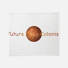 Future Mars Colonist Throw Blanket