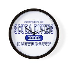 Scuba Diving University Wall Clock