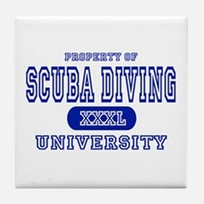 Scuba Diving University Tile Coaster