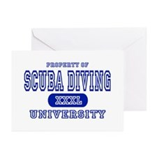 Scuba Diving University Greeting Cards (Package of
