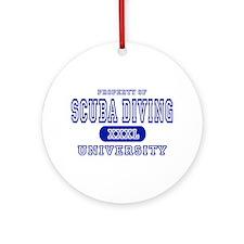 Scuba Diving University Ornament (Round)