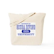 Scuba Diving University Tote Bag