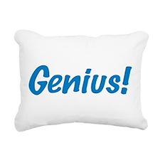 Genius Blue Rectangular Canvas Pillow