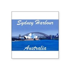Sydney Harbour Painting Rectangle Sticker