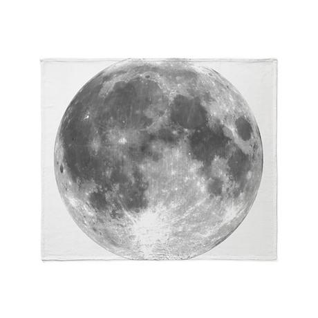 The Moon Throw Blanket