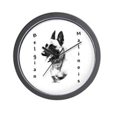 Malinois Charcoal Wall Clock