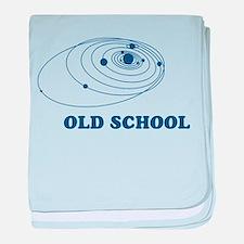 Old School Solar System baby blanket