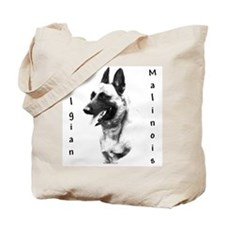 Malinois Charcoal Tote Bag