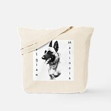 Malinois Charcoal Tote Bag