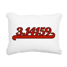 Team Pi Red Rectangular Canvas Pillow