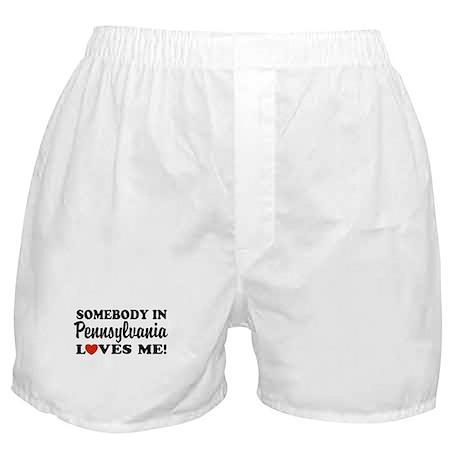 Somebody in Pennsylvania Loves Me Boxer Shorts
