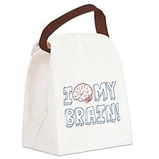 I Love My Brain Canvas Lunch Bag